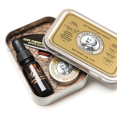 Подарочный набор Captain Fawcett Ricki Hall Booze & Baccy Grooming Survival Kit