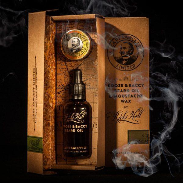 Подарочный набор Captain Fawcett Ricki Hall Booze & Baccy Beard Oil & Moustache Wax