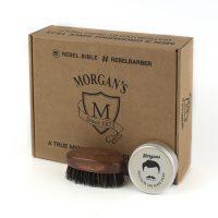 Подарочный набор крем и щетка для бороды и усов Morgans
