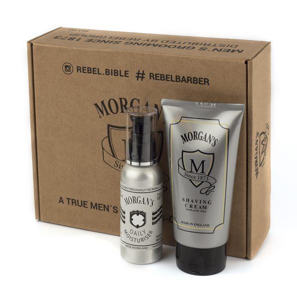 Подарочный набор крем для бритья и крем после бритья Morgans