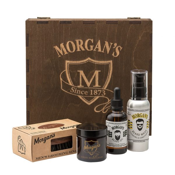 Премиальный подарочный набор для бороды и усов Morgans в коробке